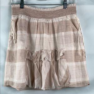 Banana Republic tan and cream cotton mini skirt
